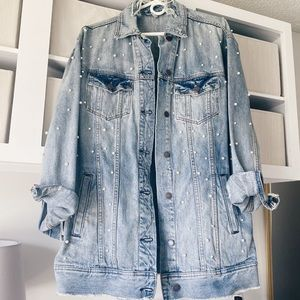 Free People Oversized Pearl Jean Jacket XS/S